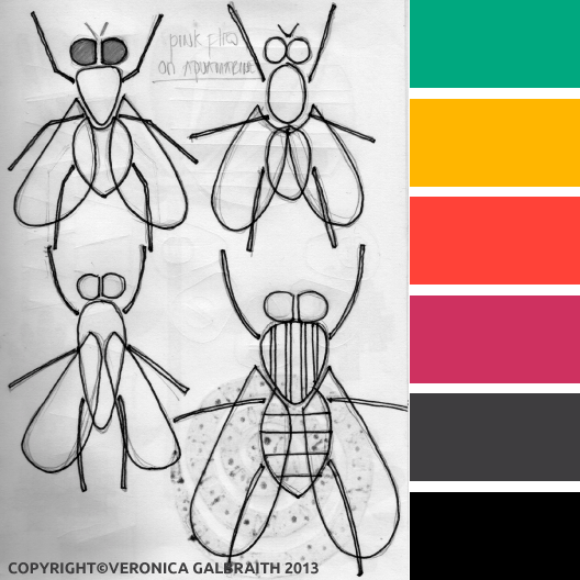 'No Flies On Me' design by Veronica Galbraith | Pitter Pattern
