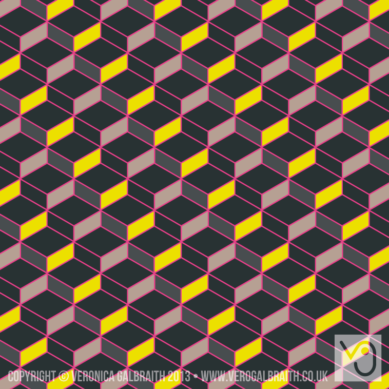 'Glowing Matrix' surface pattern design by Veronica Galbraith [3] | Pitter Pattern