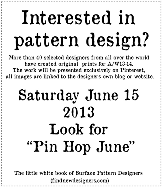 Veronica Galbraith on Surface Pattern Design Pin Hop | Pitter Pattern