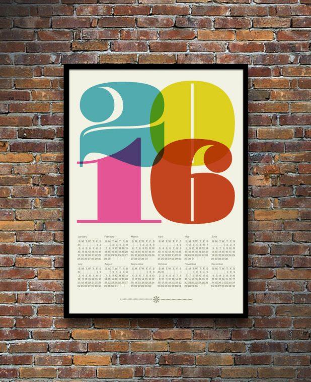 14 Gorgeous 2016 Calendars Pitter Pattern