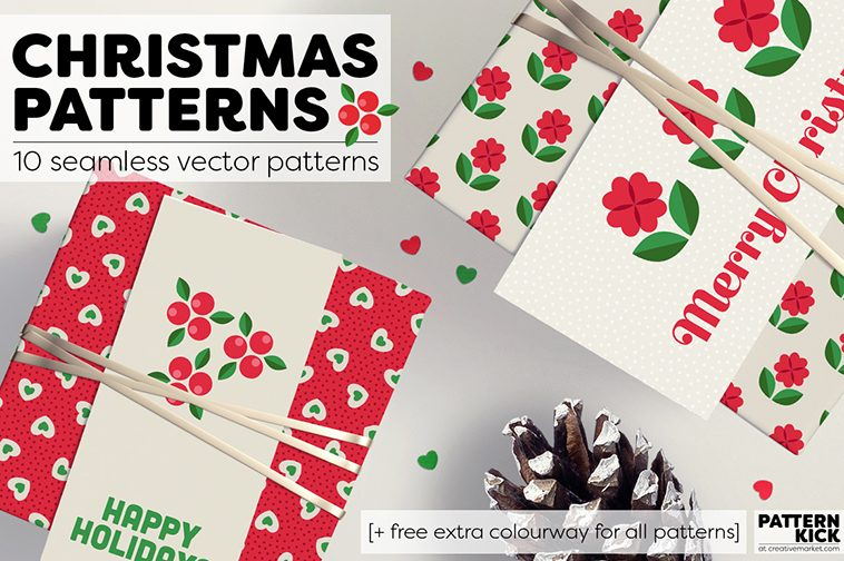 Christmas Prints and Patterns at Pattern Kick - Creative Market [1] | Pitter Pattern