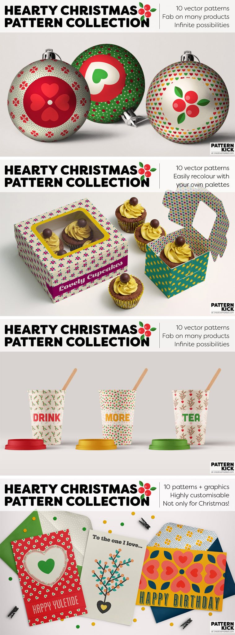 Christmas Prints and Patterns at Pattern Kick - Creative Market [2] | Pitter Pattern