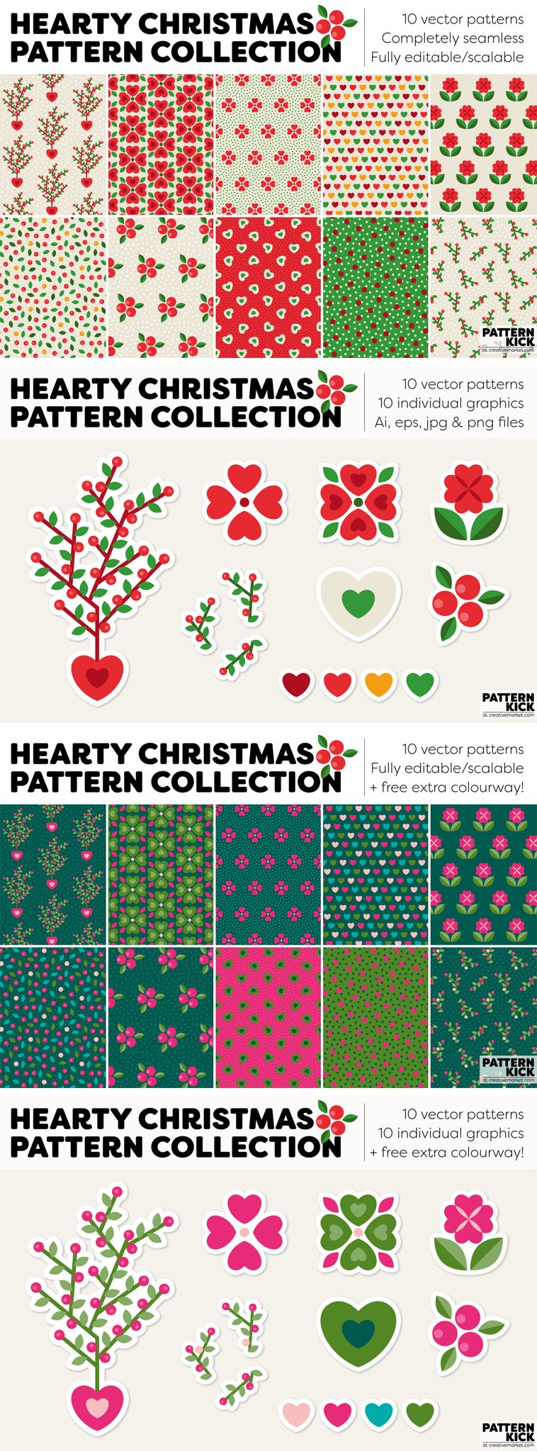 Christmas Prints and Patterns at Pattern Kick - Creative Market [4] | Pitter Pattern