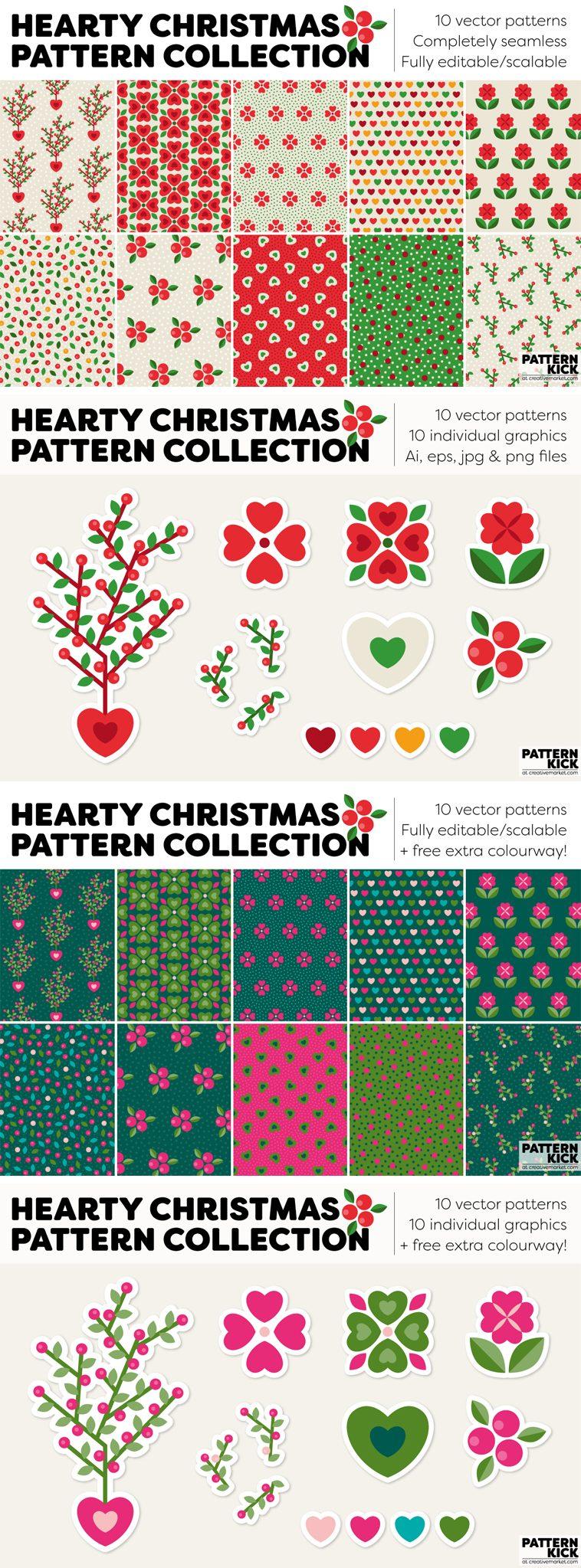 Christmas Prints and Patterns at Pattern Kick - Creative Market [4] | Pitter Pattern