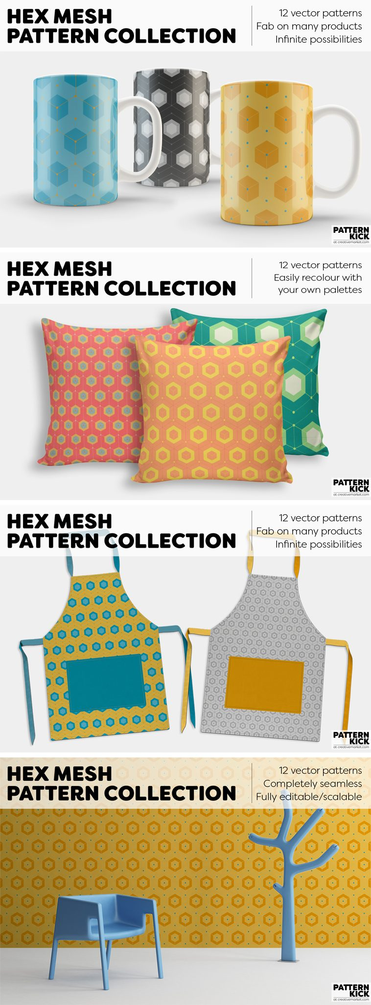 Geometric Prints and Patterns at Pattern Kick - Creative Market [2] | Pitter Pattern