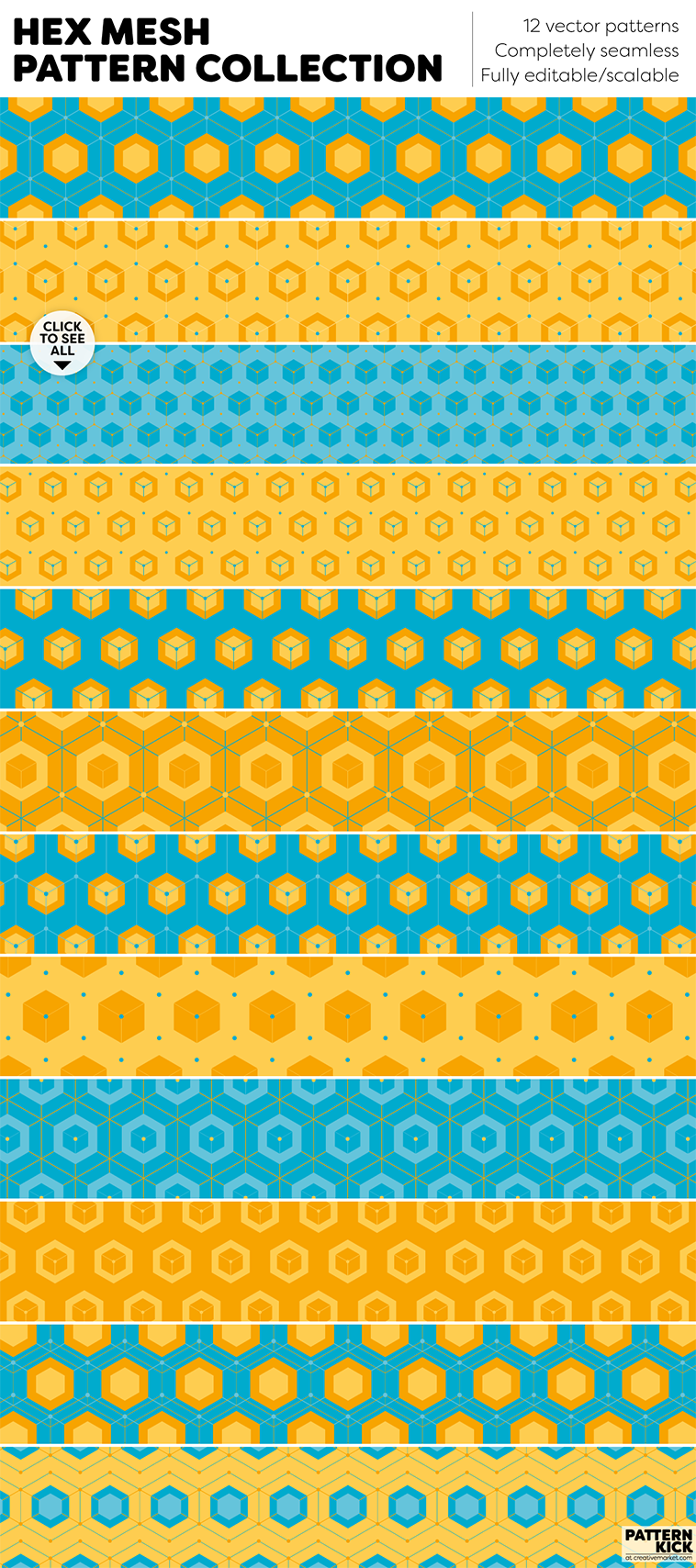 Geometric Prints and Patterns at Pattern Kick - Creative Market [3] | Pitter Pattern