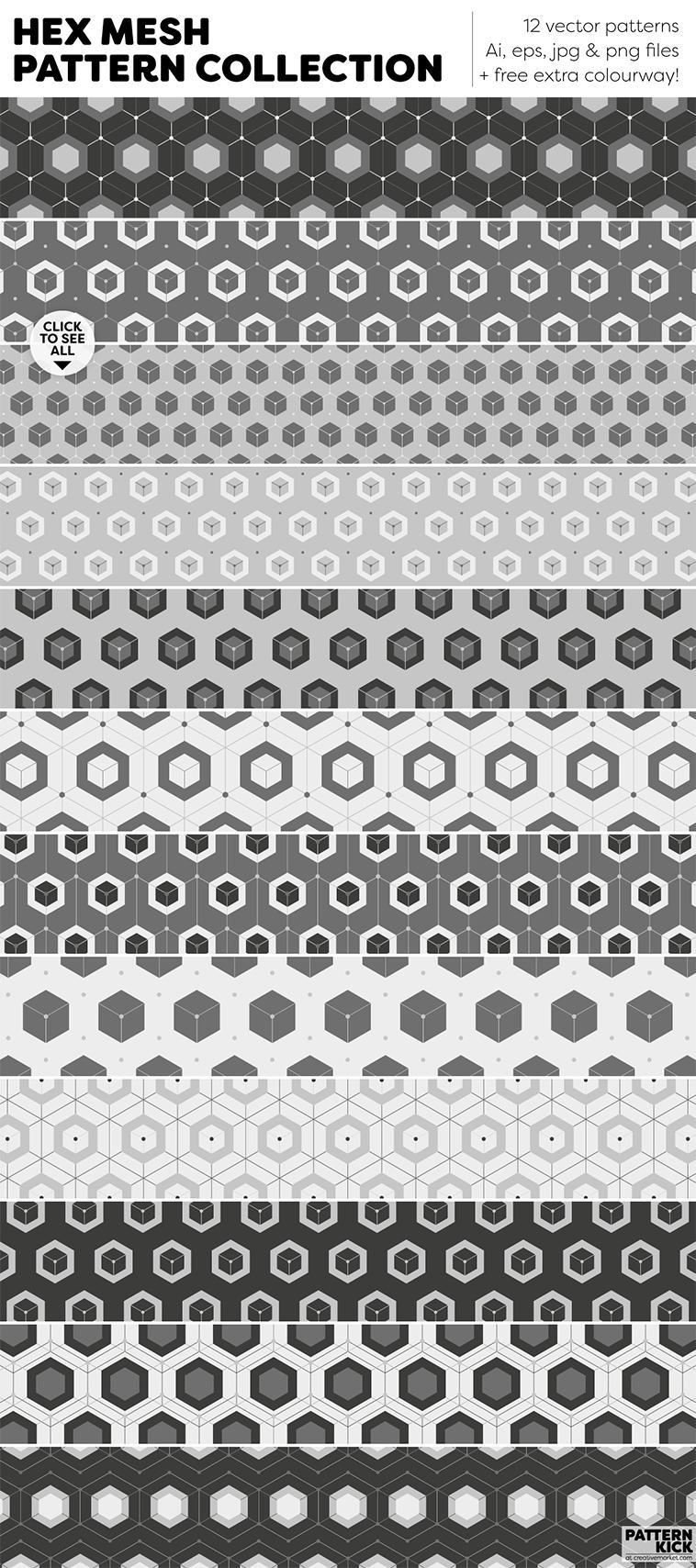 Geometric Prints and Patterns at Pattern Kick - Creative Market [5] | Pitter Pattern